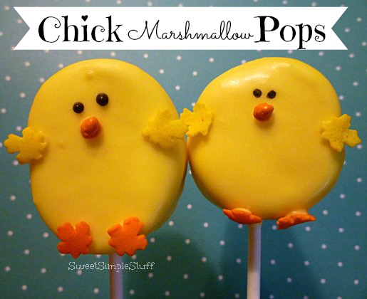 Yellow Chick Marshmallow Pops by SweetSimpleStuff