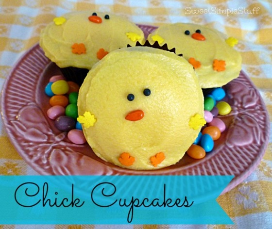 Chick Cupcakes by SweetSimpleStuff