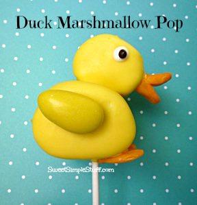 duck marshmallow pop