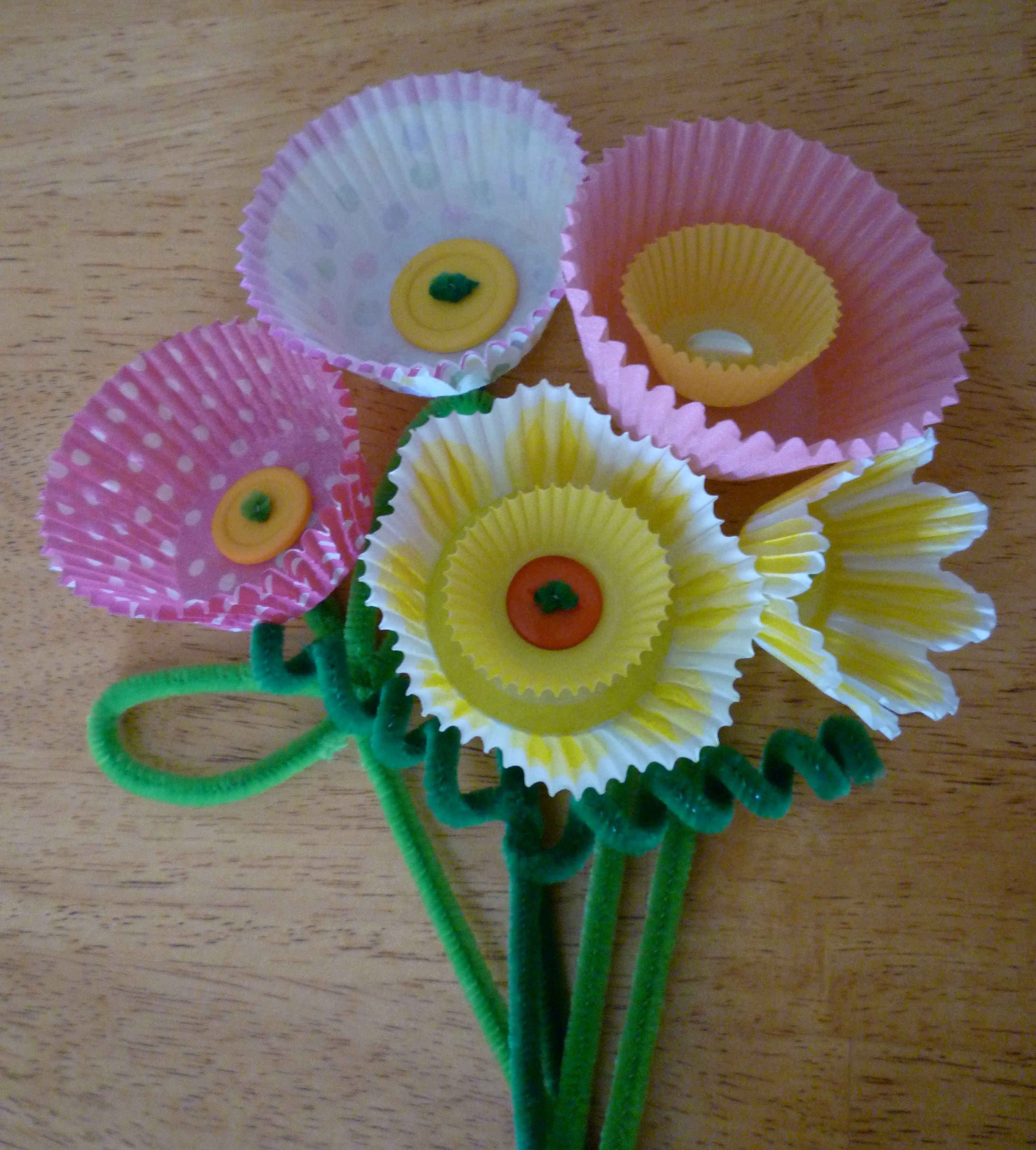 Pipe cleaner crafts flowers for Pipe craft