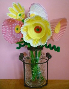 Cupcake Paper Flowers and a Giveaway