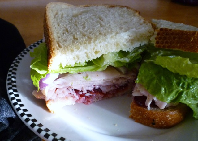 Boudin turkey cranberry sandwich