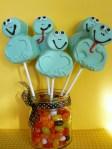 frog marshmallow pops