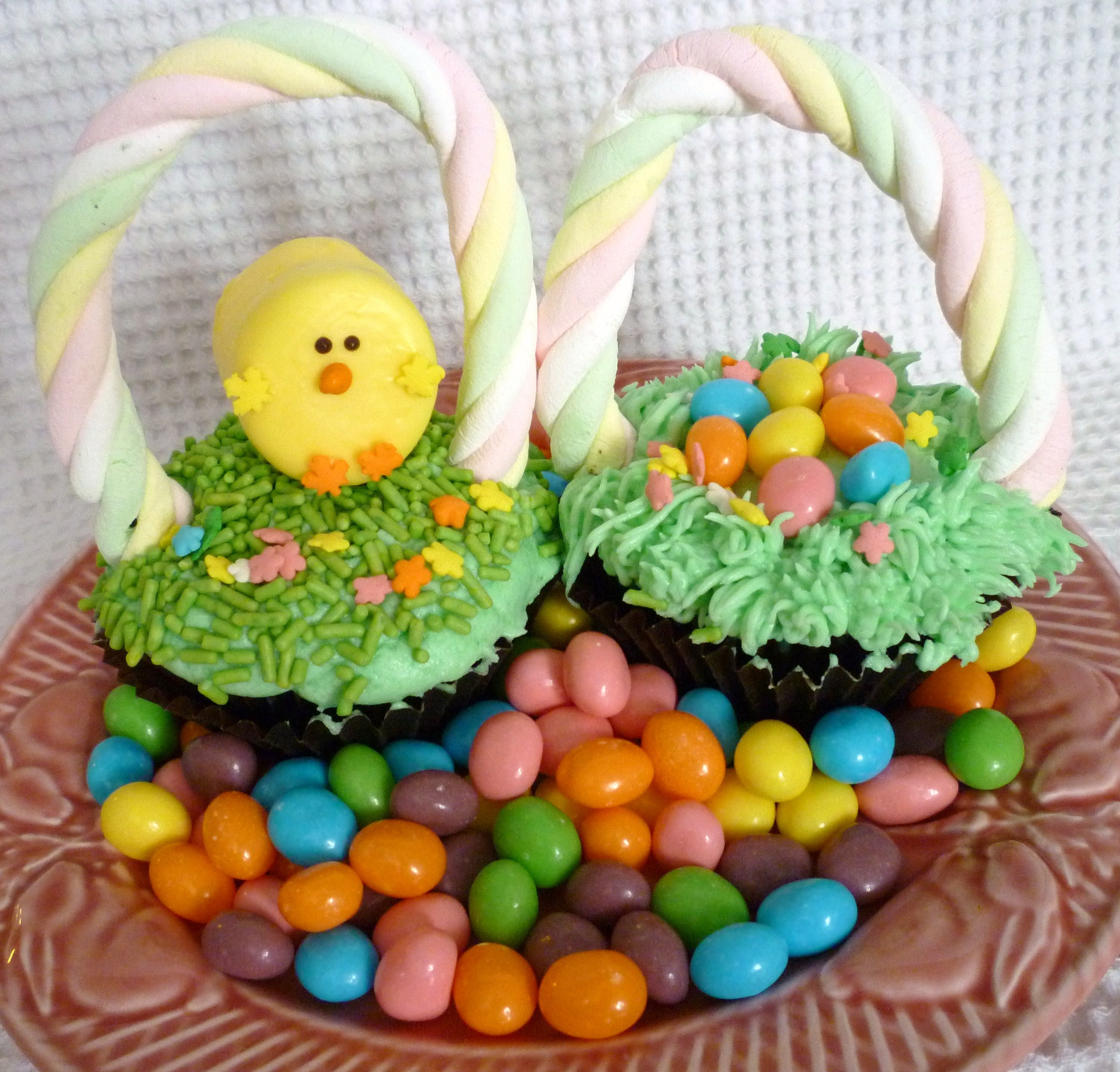 Easter sweet simple stuff easter basket cupcakes negle Images