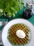 green velvet waffles