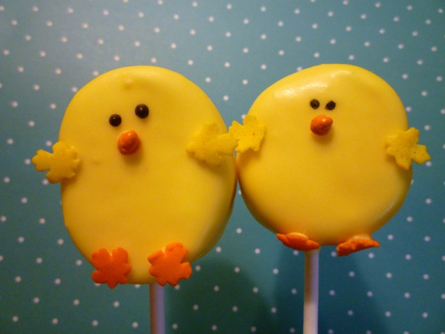 Chick marshmallow pop