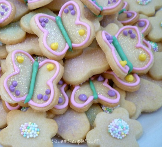 Glittery Butterfly Cookies by SweetSimpleStuff