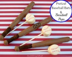 Pretzel Baseball Bats and Ball Pops by SweetSimpleStuff