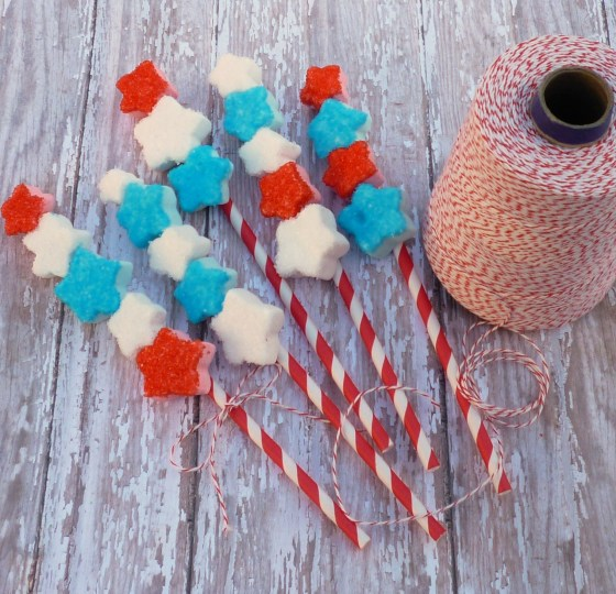 Star marshmallow pops