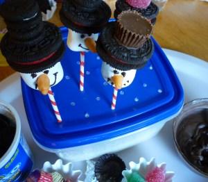 snowmen pops
