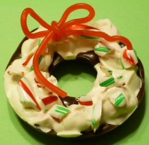 chocolate peppermint donut
