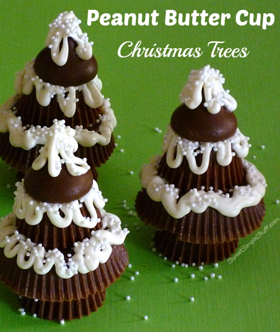Peanut Butter Cup Christmas Trees | SWEET SIMPLE STUFF