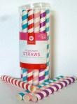 Striped paper straws - jumbo