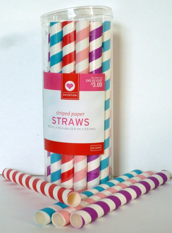 Striped paper straws - jumbo