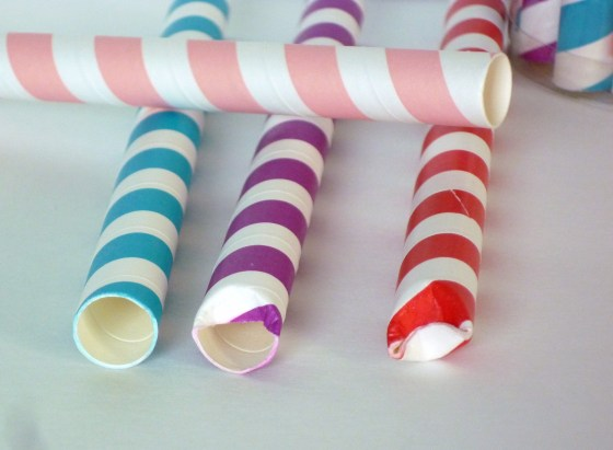 Party favor paper straws