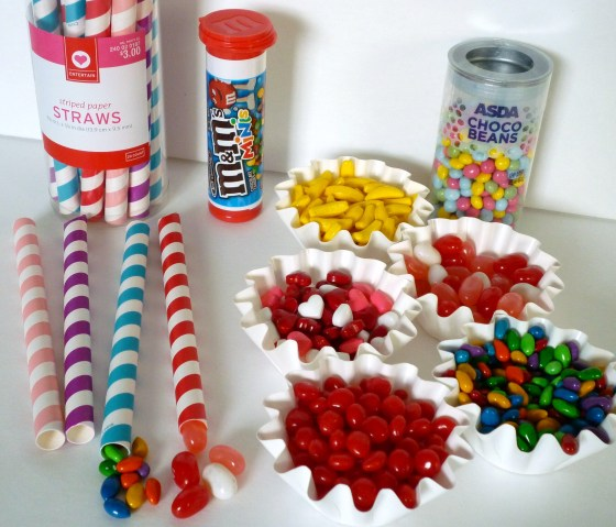 Candy filled straws