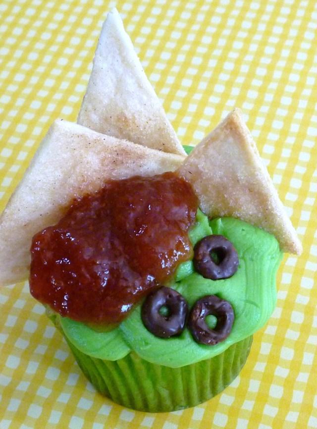 guacamole chips cupcake