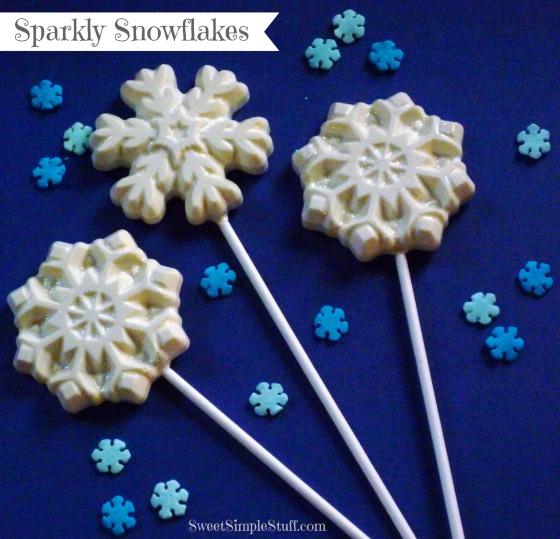 3 sparkly snowflakes