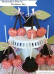 Marshmallow Pops for Presidents Day