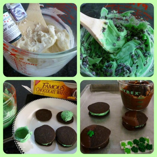 mint & chip collage