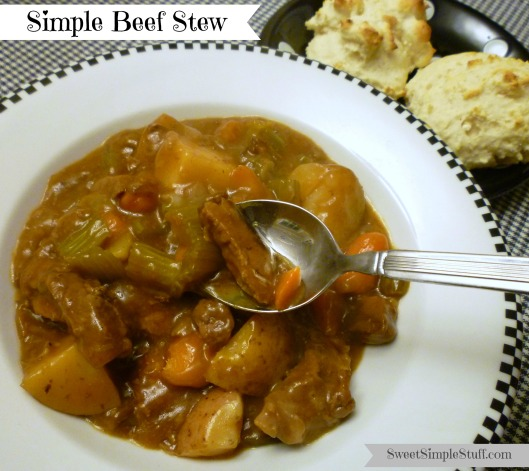 Simple Beef Stew ... made in the oven!