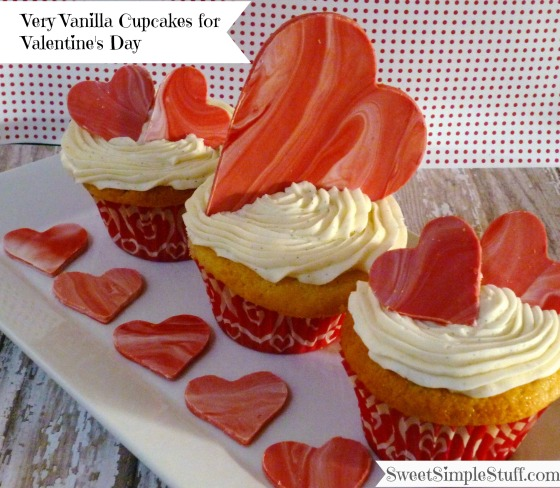 Very Vanilla Cupcakes for Valentine's Day