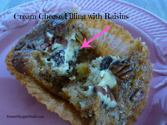 Cream Cheese Filling with Raisins