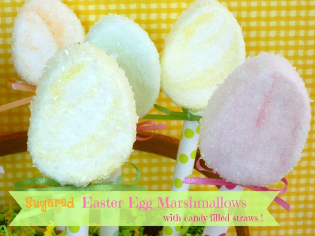 Easter Egg Marshmallows candy filled straws