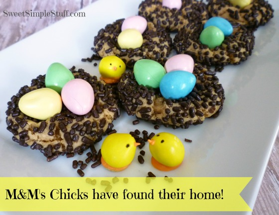 M&M's chicks home