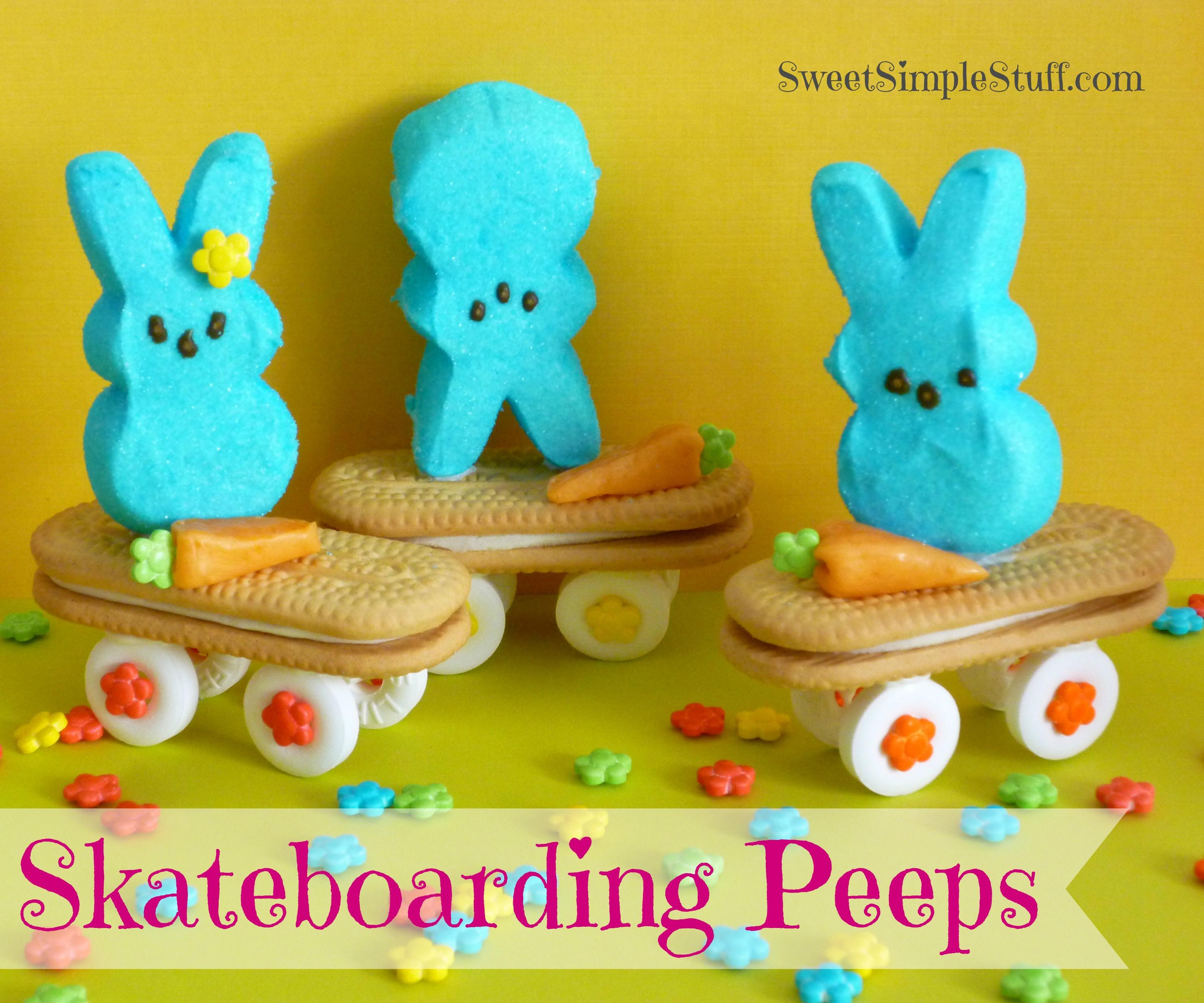 Skateboarding bunnies peeps sweet simple stuff peeps on skateboards solutioingenieria Images