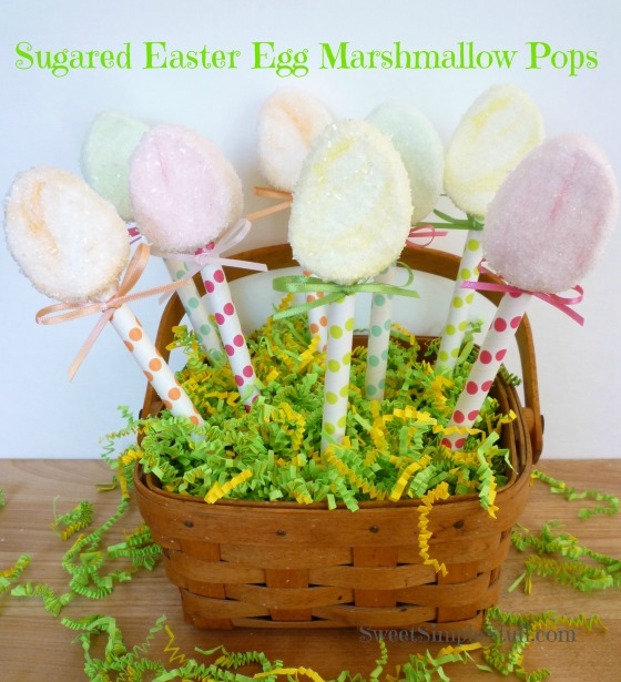 Sugared Easter Egg Marshmallow Pops