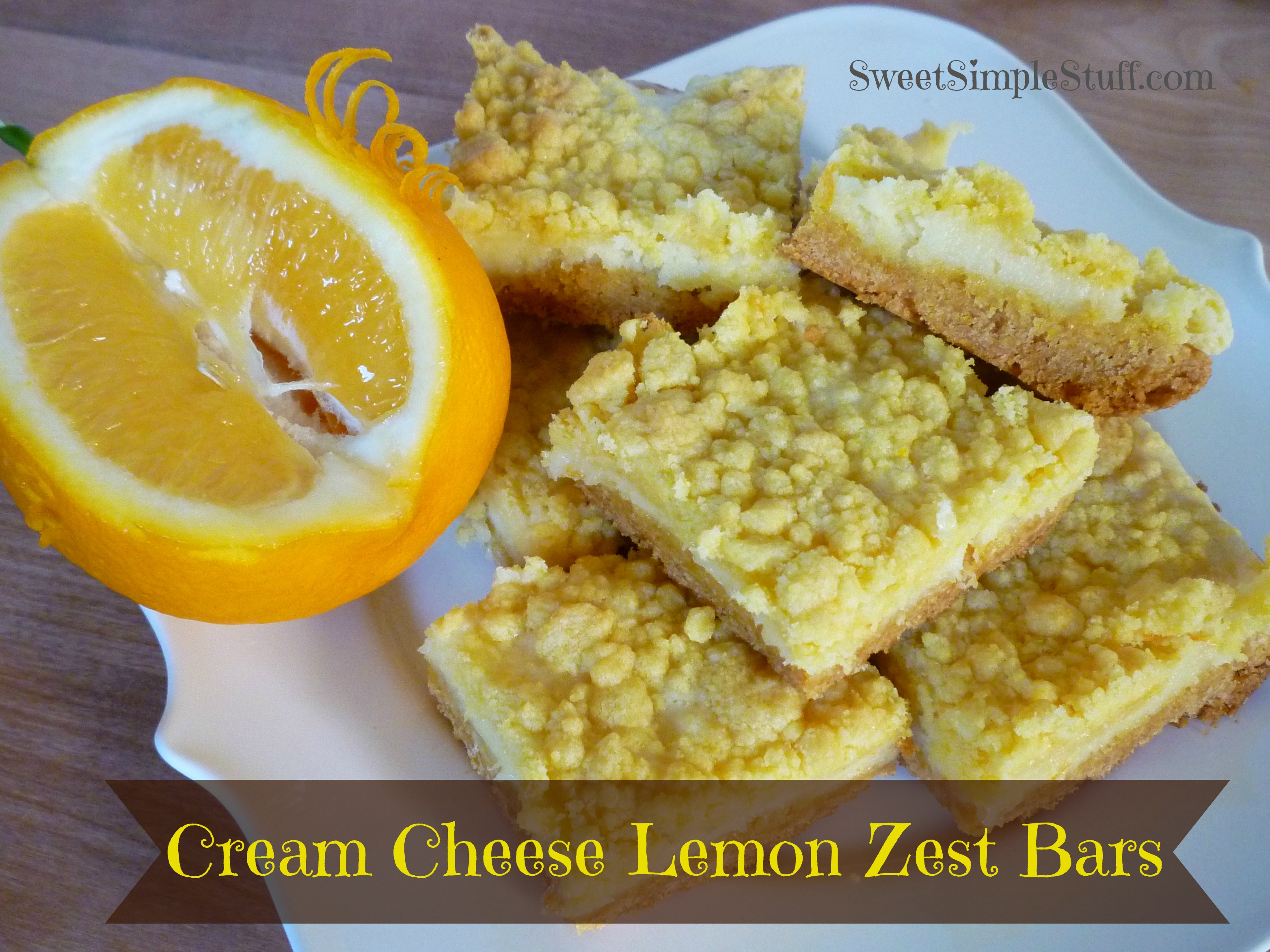 Cream Cheese Lemon Zest Bars | SWEET SIMPLE STUFF