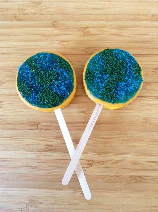 Moon Pie Pops for Earth Day