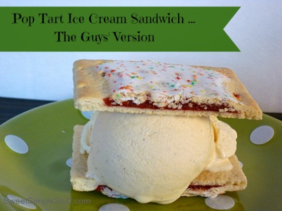Guys' Pop Tart Ice Cream Sandwich