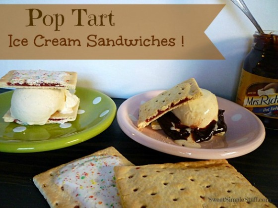 Pop Tart Ice Cream Sandwiches