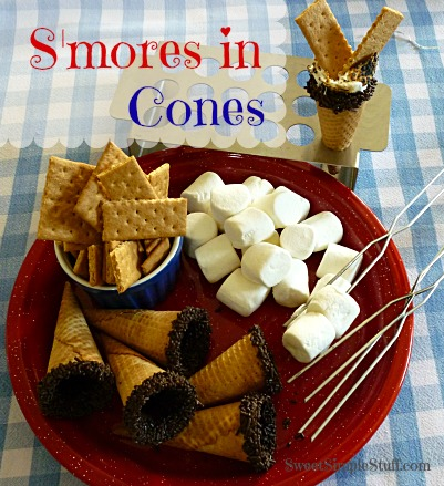 S'mores in cones