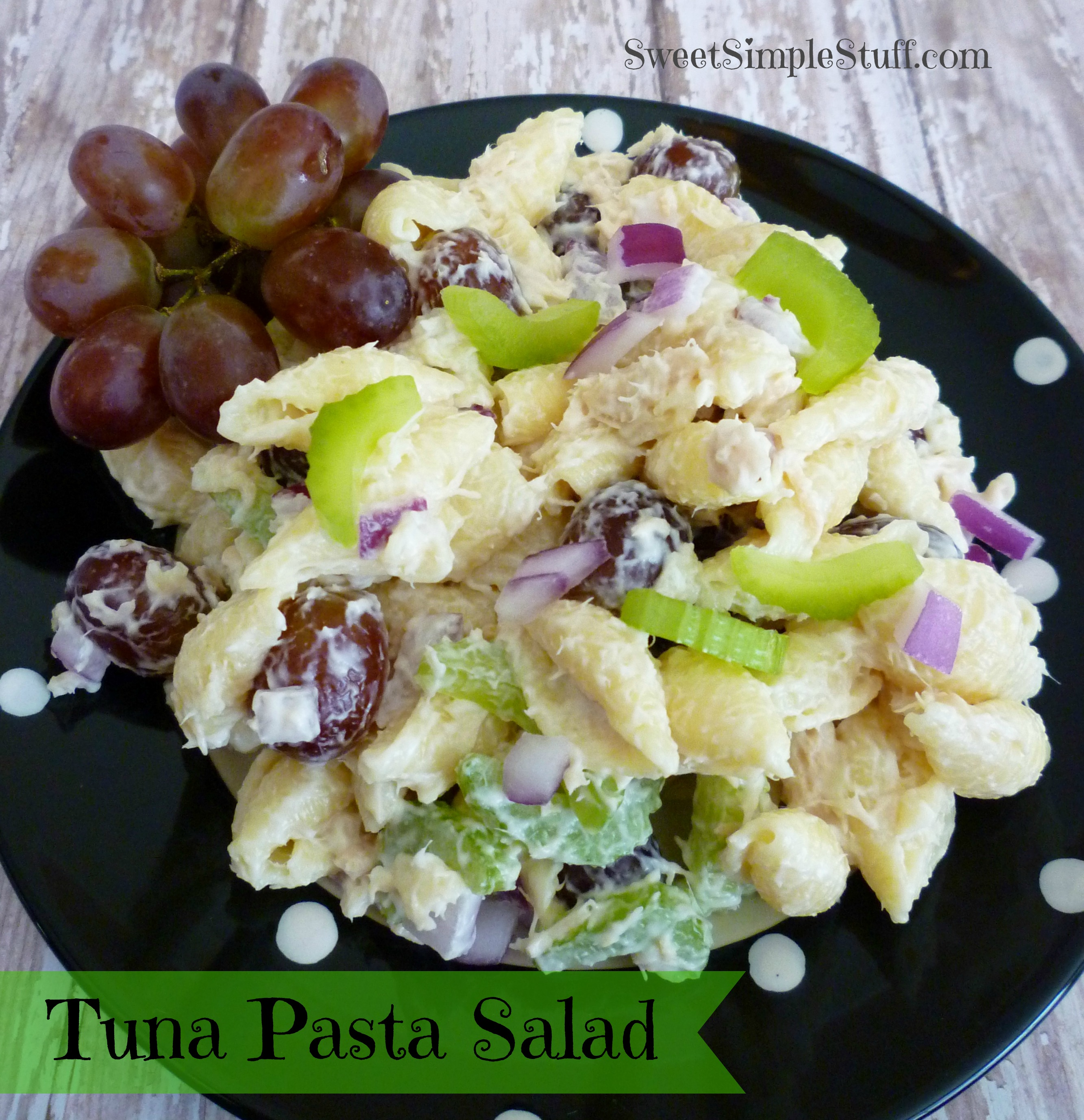 Tuna pasta salad sweet simple stuff for Tuna fish pasta salad