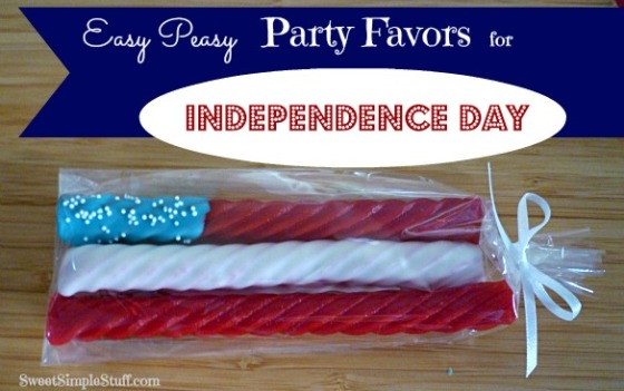 Easy Peasy Party Favors for Independence Day