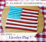 Licorice candy flag