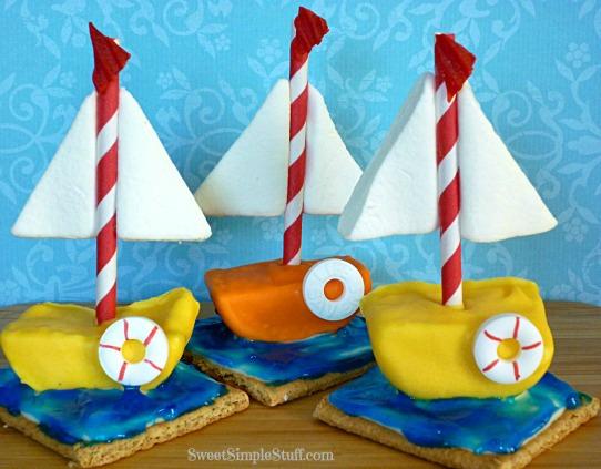 Marshmallow Sailboat