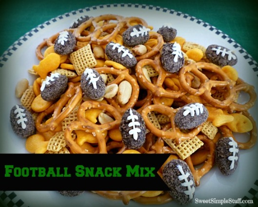 Chocolate Football Snack Mix