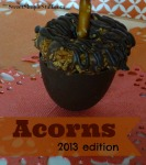 cookie candy acorns 2013