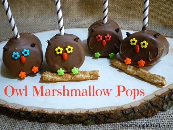 Owl Marshmallow Pops