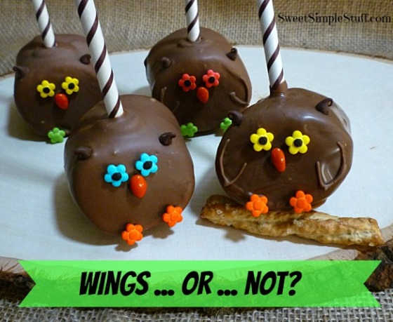 wings ... or ... not  owl pops