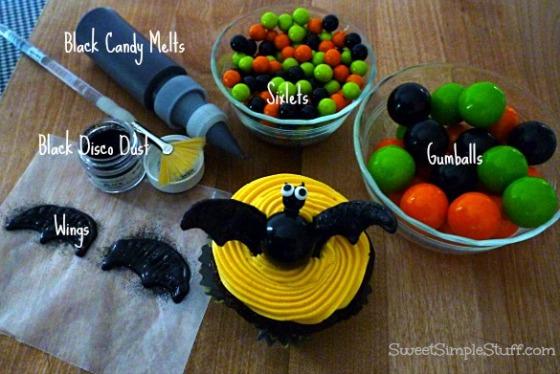 Bat Cupcake Sixlets Gumballs