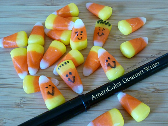candy corn faces