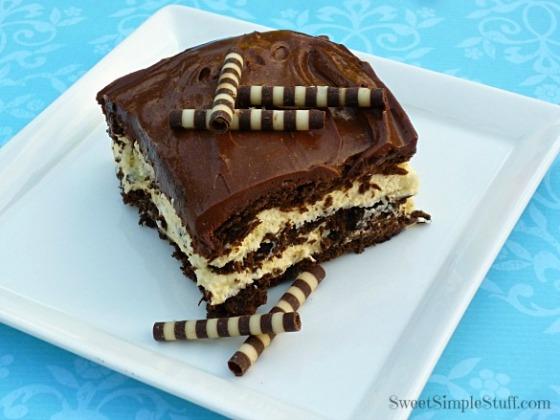 chocolate vanilla eclair cake