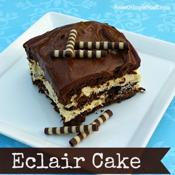 Chocolate Eclair Cake With Canned Frosting