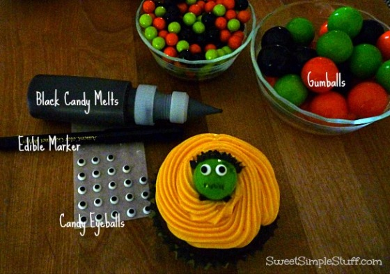Frankenstein Cupcake Gumball