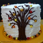 autumn fall leaves sixlets cake